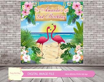 Flamingo Backdrop, Flamingo Banner, Let's Flamingle, Flamingle Banner, Flamingo Photo Booth, Flamingo Party, Flamingo Birthday *DIGITAL FILE