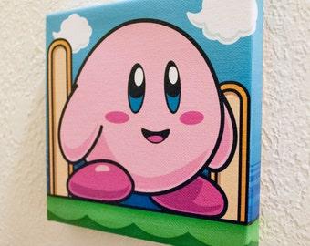 Kirby - Print on Canvas