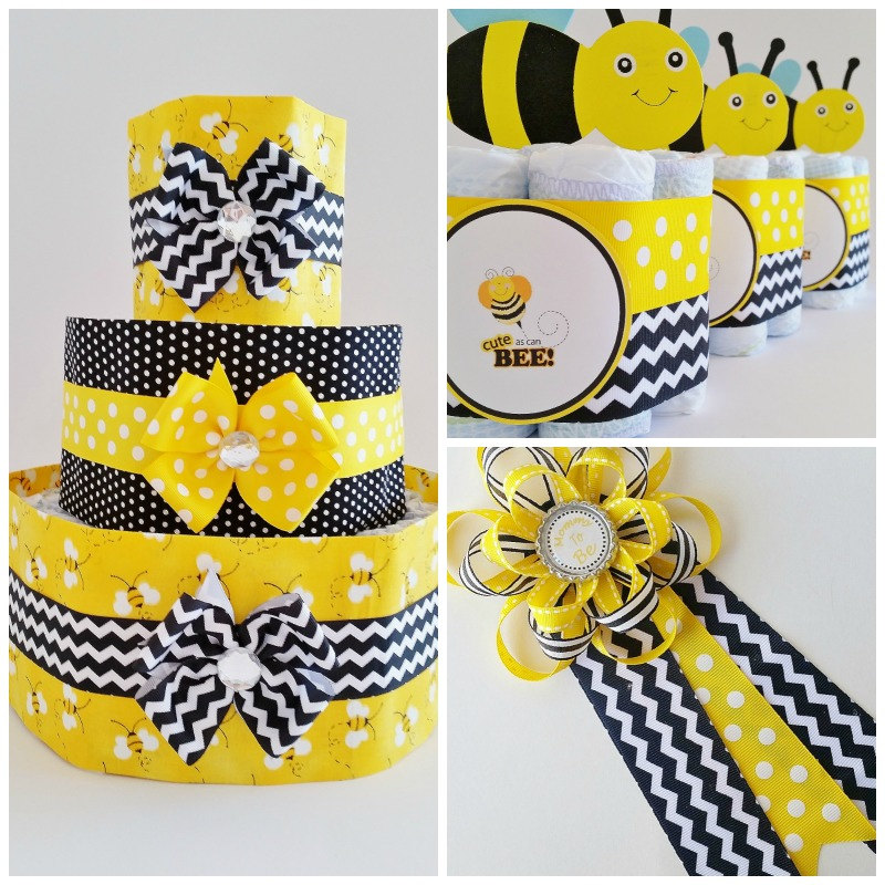 Mommy To Bee Baby Shower Decor Package Diaper Cake