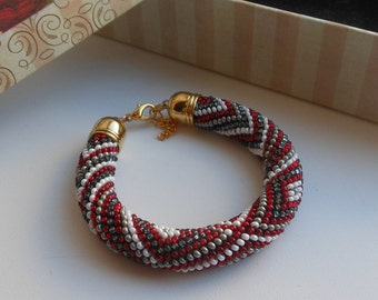 bracelet beads, bead crochet rope bracelet, women bracelet