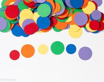 Rainbow Birthday Party, Circle Confetti, Birthday Party Decoration, Kids Birthday Party