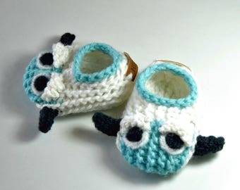 Wool Baby Yeti, Big Foot, Abominable Snowman Slippers, Crib Shoes, Booties