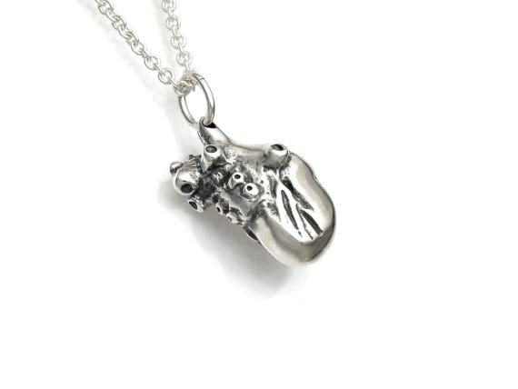 Sterling Silver Small 3d Anatomical Heart Necklace Anatomy