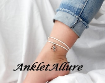 LEATHER Ankle Bracelet BEACH Anklet SEAHORSE Ankle Bracelet Wrap Anklets for Women Guaranteed
