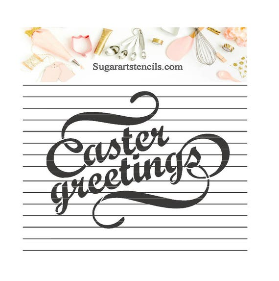 Words easter greetings cookie stencil nb600135 from sugarartstencils words easter greetings cookie stencil nb600135 from sugarartstencils on etsy studio m4hsunfo