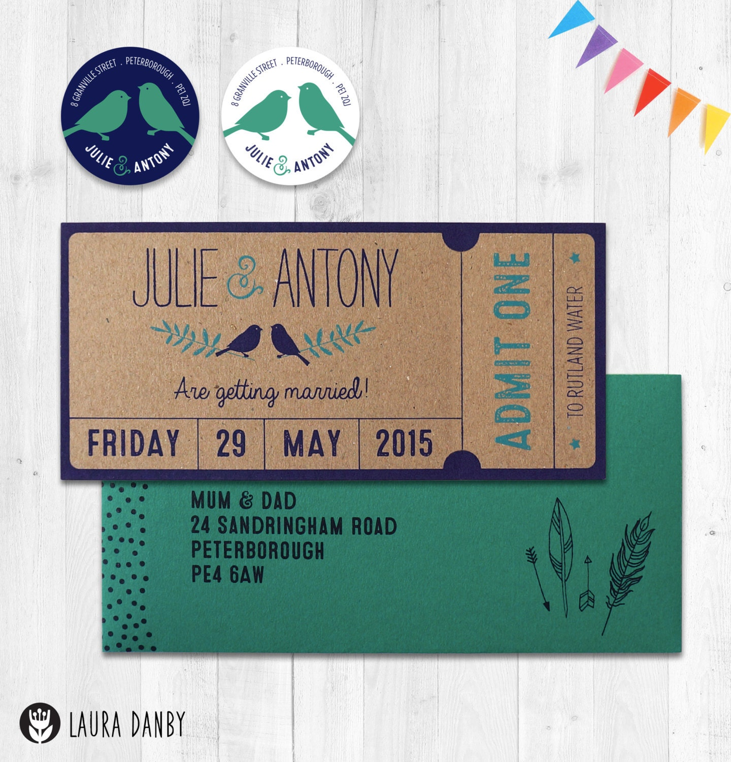 Wedding Invitations Admit One Woodland Save the Date