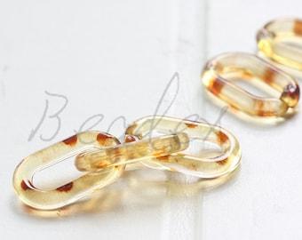 20pcs / Oval Acrylic Chain / Plastic Chain / Clear Chain