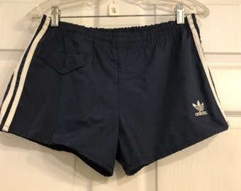 Vintage 80's Adidas Swim Trunks Shorts Made in USA Men's 36-38 New