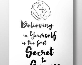 "Printable Motivational Digital poster - ""Believe 1"""
