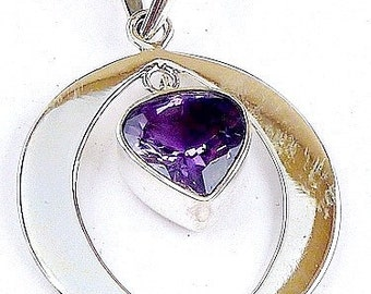 Jewelry AMETHYST PENDANT stone natural chakra esotericism protection healing minerals H29.3 care