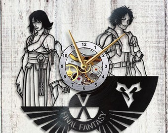 Final Fantasy X Tidus and Yuna Vinyl Clock