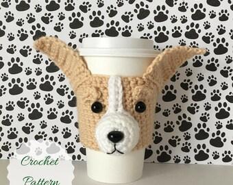 Crochet Chihuahua, Dog Mug Cozy Pattern, Chihuahua Pattern, Dog Cozy Crochet Pattern, Crochet Dog Pattern, Tea Cozy Pattern, Amigurumi Dog