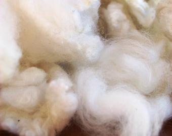 Merino Stuffing Fleece - Natural toy stuffing. Hand Craft Spinning Felting. Wool toy stuffing. natural off-White Australian Merino Wool QLD