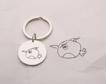 Personalized KeyChain Child's drawing keyring