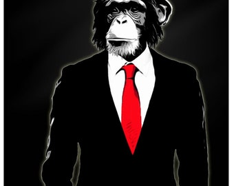 "Giclee Canvas Wall Art ""Domesticated Monkey"" by Nicklas Gustafsson"