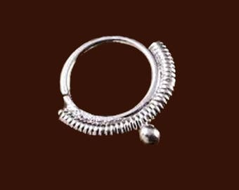 nose ring, sterling silver ring, septum ring, silver jewellery
