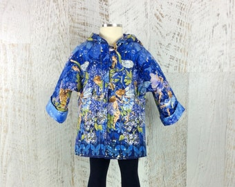 Girls Jacket, girls coat, fairy coat, fairy jacket, Blue fairy coat
