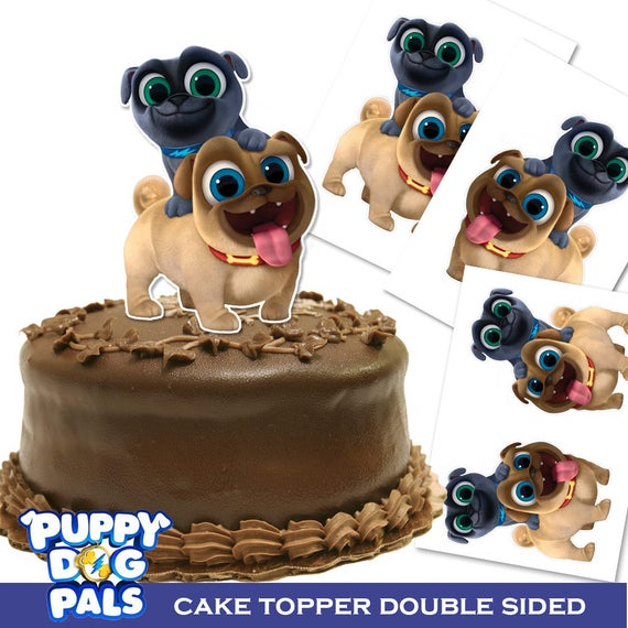 puppy birthday cake puppy pals cake topper sided printable puppy 6866