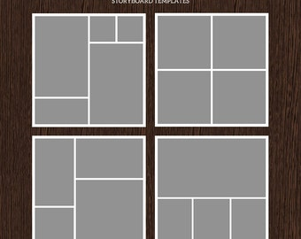 20x20 Photo Storyboard Templates - Photo Collage Template - PSD Template - Resize to 10x10 - For Photographers - Instant Download - S202