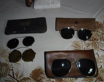 Vintage clip on glasses Cool Ray clip on's American optics & ....