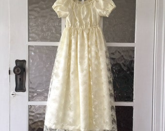 """Baby girls Cream Christening dress, Special occasion dress, size 6-12 months, """"READY TO SHIP"""""""