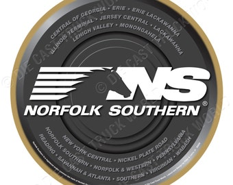 Norfolk Southern Railroad Logo Wood Plaque / Sign
