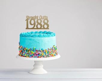 Thirtieth Birthday Cake Topper- 40th Birthday Cake Topper- 21st Birthday Cake Topper- 30th Birthday Cake Topper- 30th Birthday Party Decor