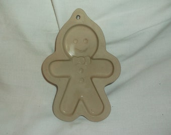 "1996 Sassafrass Superstone Gingerbread Man 6"" Cookie  Craft Mold Ginger Bread"
