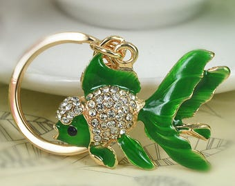 Frog and Fish Keychains