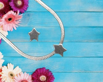 Sterling Silver 'Star' Charm Necklace With Gift Box