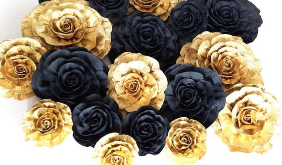 Gold paper flower boatremyeaton gold paper flower mightylinksfo