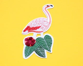 Flamingo patch, Patches, Embroidered patch, Iron on Patch, Patches for jackets, Clothing patches, Sew on patches