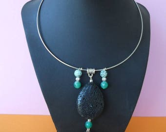 Lava and Agate necklace