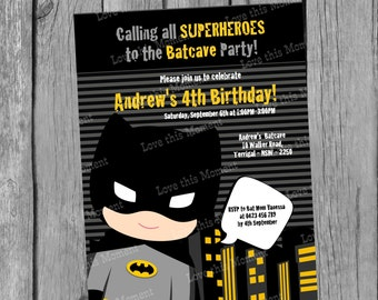 Batman Invitation by Love this Moment!