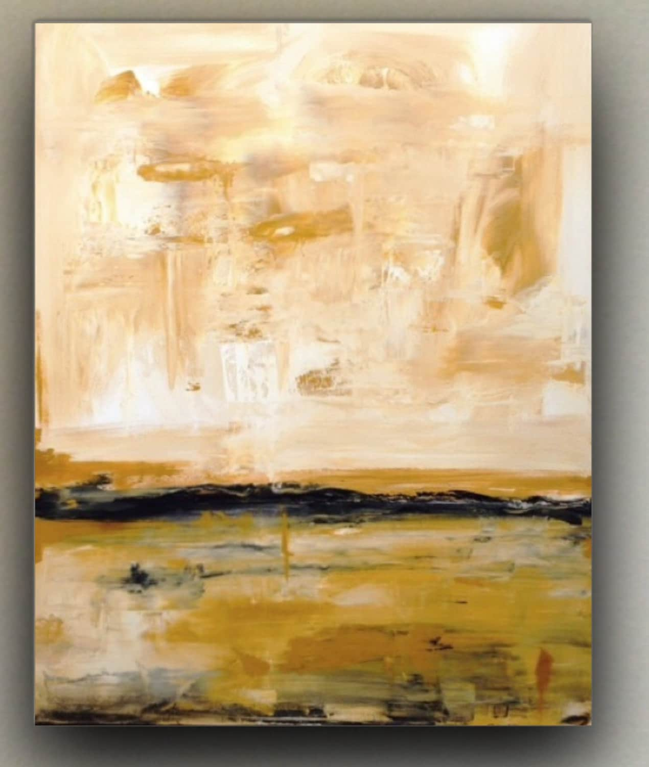 Large abstract paintingneutral color artlarge abstract