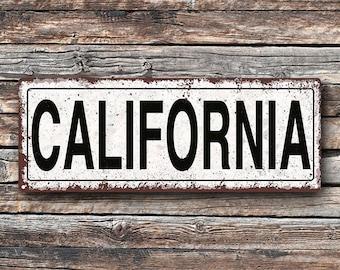California Metal Street Sign, Rustic, Vintage   TFD2018