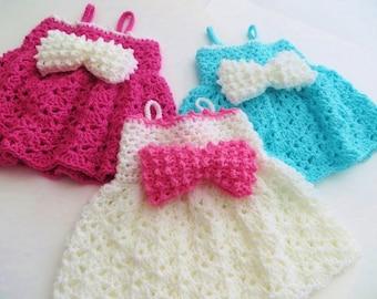 Crochet Baby Dress Pattern, Pdf Pattern, Crochet Sun dress Pattern, Little Bow Peep Dress