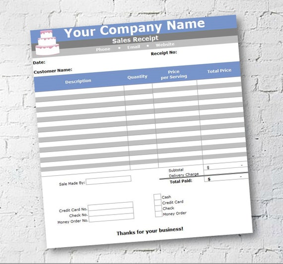 Cake Cupcake And Cookie Decorating Business Printable Order - Microsoft word invoice template mac online yarn stores