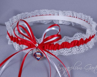 Philadelphia Phillies Lace Wedding Garter