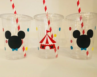 Mickey Carnival Party cups, Mickey Circus Party, Circus party, Carnival party, Mickey Mouse party cups