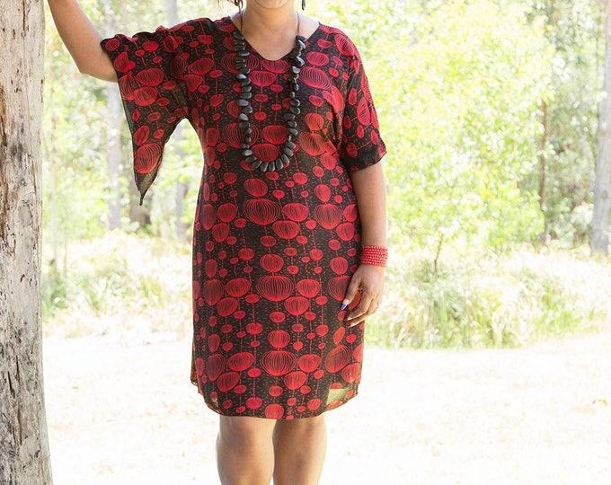 Featured listing image: Curvy Caftan - Cherry Lanterns