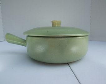 Vintage light green Fondue pot