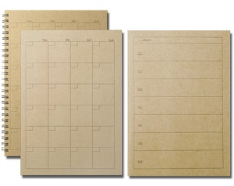 Muji Schedule Planner - schedule, weekly schedule, monthly schedule, kraft planner, planner notebook, planner binder, schedule notebook, A5