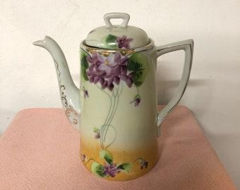Hand Painted Te - Oh Coffee Pot Nippon