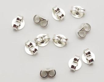 5.8mm Earnut Butterfly Clutch Silver Tone 1000pieces-
