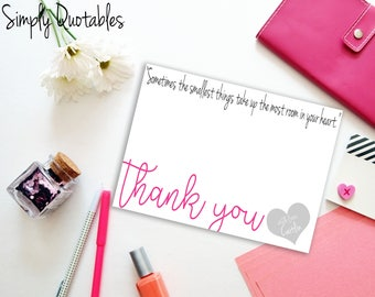 Custom Digital/Printable Thank You Note Card