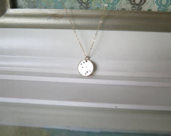 Gemini Necklace • Gold Zodiac Necklace, Gold Gemini Jewelry, Constellation Necklace, Gold Necklace, Gold Jewelry, Birthday Gift
