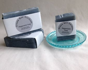 Peppermint Charcoal Handcrafted Soap