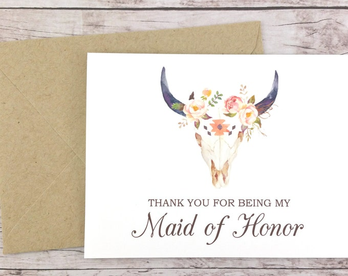 Thank You For Being My Maid of Honor Card (FPS0010)