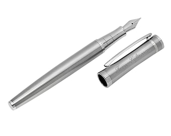 Personalized Quality Silver Color Fountain Pen - Free Engraving